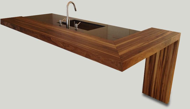 comptoirs lamin s et en bois debout moderne. Black Bedroom Furniture Sets. Home Design Ideas